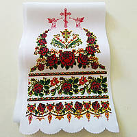 Рушник ритуальный 150*16 см с ангелами, фото 1