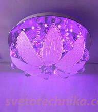 Люстра торт на 4 лампочки с LED подсветкой  А7101_400