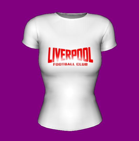 Футболка женская белая с принтом FC Liverpool