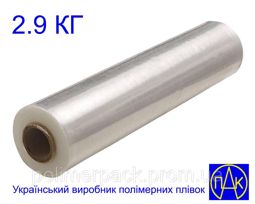 Стрейч плівка для упаковки товару прозора 2.9 кг 17 мкм Polimer PAK