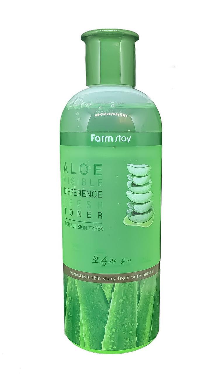 Освежающий тонер для лица с экстрактом алоэ Farmstay Aloe Visible Difference Fresh toner