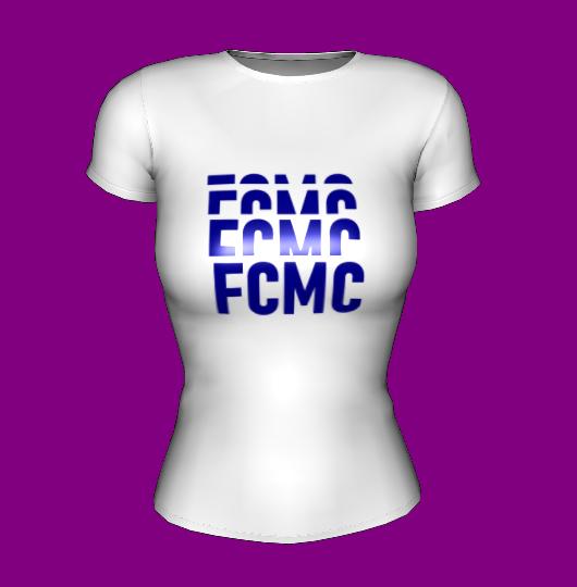 Футболка женская белая с принтом FCMC Манчестер Сити