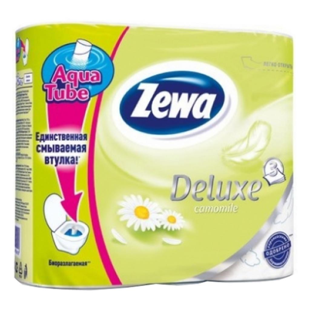 Туалетная бумага Zewa Deluxe 3-слойная Ромашка Белая 4 шт (7322540060133)