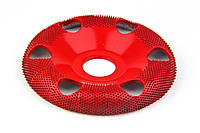 Обдирочный диск с отверстиями SABURRTOOTH 100x22 мм, полукруглый. Средняя зернистость.