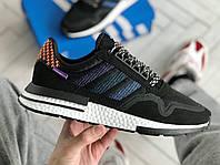 Кроссовки Adidas ZX 500 RM Black Phiolet