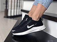Кроссовки женские (подростковые) Nike Flyknit Lunar 3,черно белые, фото 1