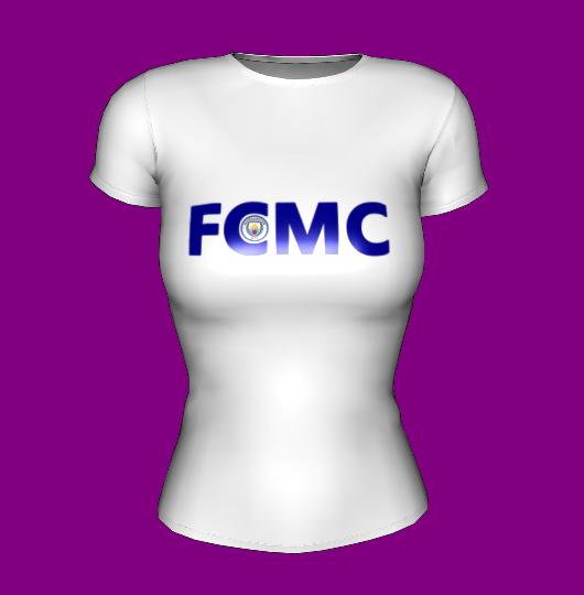 Футболка женская белая с принтом FCMC