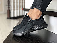 Женские летние кроссовки Adidas,черные, сетка, фото 1