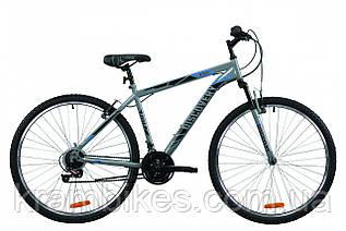 "Велосипед Discovery - RIDER (2020) (29""-21"") Серый/Чёрный/Синий"