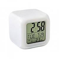 Часы-ночник MHZ Хамелеон Белый 001677, КОД: 1724088