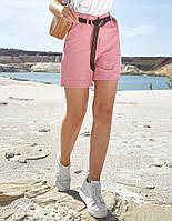Коттоновые летние однотонные высокие женские шорты (1385.4170 svt)