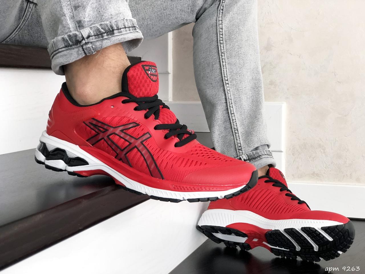 Мужские кроссовки Asics Gel-Kayano 25,сетка,красные