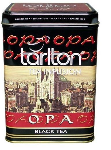 Крупнолистовой чёрный чай Tarlton ОРА цейлонский 250 грамм в жестяной банке