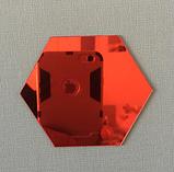 Акрилове дзеркало «Сота» 1 шт 265×230×132 мм ×1 мм червоне, фото 3