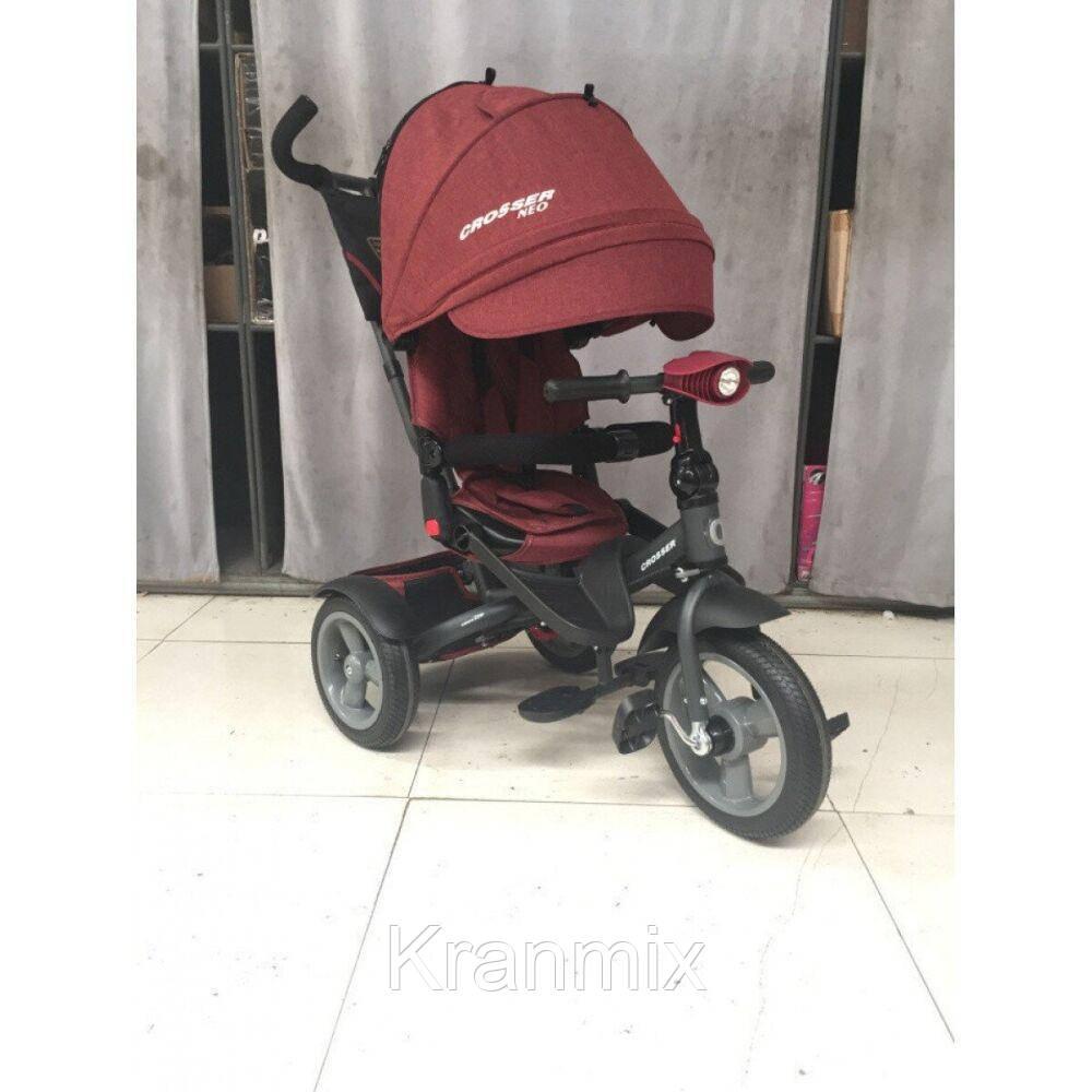 Детский трехколесный велосипед Azimut Crosser T-1 ЕСО Air — трешка ТЕРРАКОТОВЫЙ