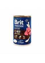 Brit Premium by Nature Beef with Tripe Мясной паштет с рубцом (требухой) для собак 400г