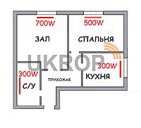 Система отопления 2-х комнатной квартиры электропанелями - набор для монтажа электроотопления., фото 1