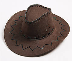 Шляпа Ковбойская коричневая, большая. Объем 56-58 см
