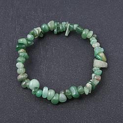 Браслет натуральний камінь Нефрит крихітка на резинці d-6мм обхват 18,5 см
