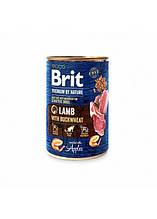 Brit Premium by Nature Lamb with Buckwheat Sensitive Мясной паштет для собак с чувств пищев собак 400г