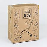 """Коляска прогулочная детская  W 2277 """"JOY"""" Фиолетовая, съемный бампер, футкавер, складная, фото 6"""