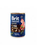 Brit Premium by Nature Pork with Trachea Мясной паштет с трахеей для собак 400г