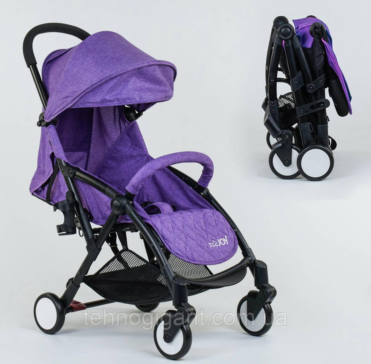 """Коляска прогулочная детская  W 2277 """"JOY"""" Фиолетовая, съемный бампер, футкавер, складная"""