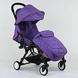 """Коляска прогулочная детская  W 2277 """"JOY"""" Фиолетовая, съемный бампер, футкавер, складная, фото 2"""