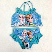 Купальник для девочки сдельный на брительках Frozen Фроузен Холодное сердце 10/11 лет