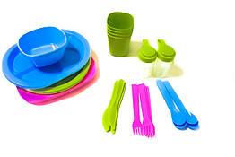 Набор посуды для пикника MHZ R86497 36 шт на 4 персоны 008662, КОД: 1698920