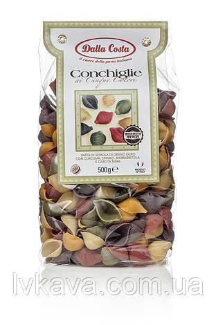 Макаронные изделия CONCHIGLIE  ai Cinque Colori Dalla Costa, 500 гр, фото 2