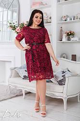 Платье  БАТАЛ кружево в расцветках 04д41480
