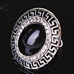 """Кільце Агат оправа """"грецька"""" 2,8*2,4 см овальний камінь без р-р"""