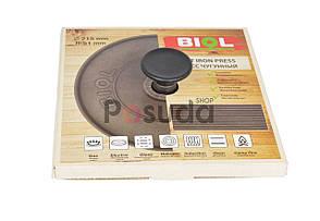 Чугунная крышка пресс круглая Биол 21,5 см 11242, фото 3