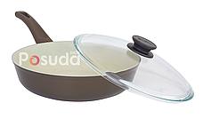 Сковорода Биол Классик декор с бакелитовой ручкой  22 см 22077ПС, фото 2