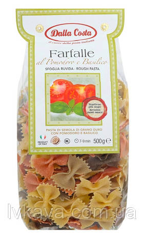 Макаронные изделия Farfalle al Pomodoro e Basilico  Dalla Costa, 500 гр, фото 2