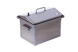 Коптильня горячего копчения маленькая Домик 1,5 мм 400х300х310 h-01