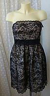 Платье женское нарядное вечернее кружево бренд Monsoon р.48 3627