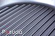 Сковорода гриль чугунная круглая 24 см Биол со стеклянной крышкой 1124с, фото 4