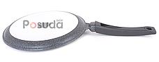 Сковорода Биол Гранит грей  блинная с антипригарным покрытием 24 см 24084М, фото 2