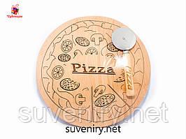 Набор разделочной кухонной доски для пиццы 30*30