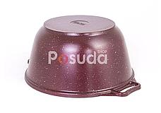 Кастрюля алюминиевая с внешним цветным покрытием Биол 3,5 л К0351Д, фото 3