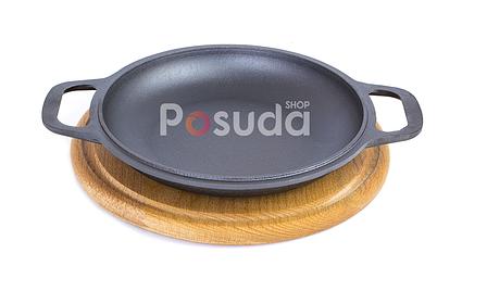 Сковорода порционная чугунная Биол на подставке 22 см 02042д, фото 2