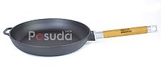 Сковорода чугунная Биол Оптима со стеклянной крышкой 24 см 0124с, фото 2