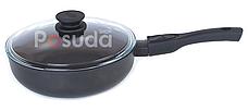 Сковорода со съемной ручкой Элегант и стеклянной крышкой Биол 26 см 26091ПC, фото 2