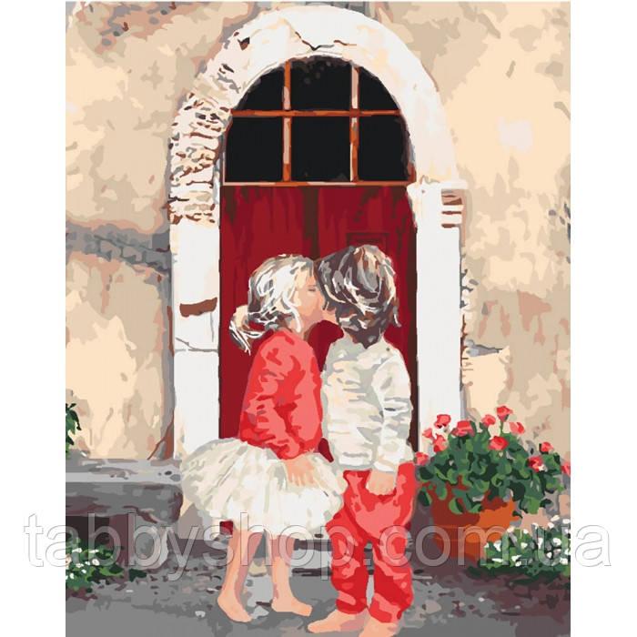 Картина по номерам Идейка - Первый поцелуй 2