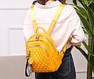 Рюкзаки женские стильные городские модные качественный кожзам небольшой размер, фото 4