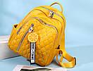 Рюкзаки женские стильные городские модные качественный кожзам небольшой размер, фото 3
