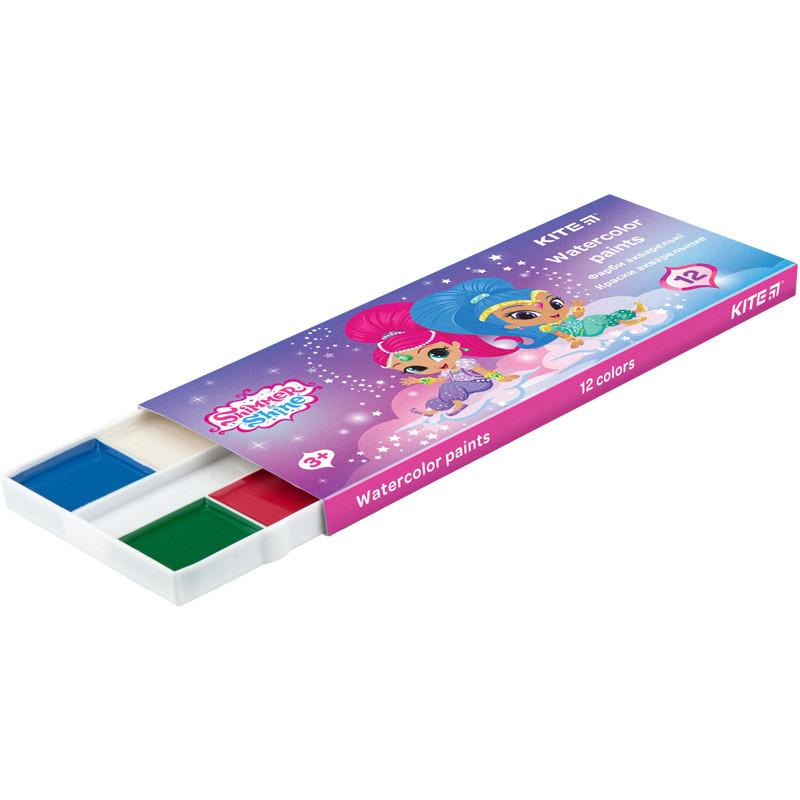 Краски акварельные Kite 041 Shimmer&Shine 12 цветов в картонной упаковке SH20-041