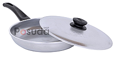 Сковорода алюминиевая литая Биол линия Блеск 22 см 2204БК, фото 2